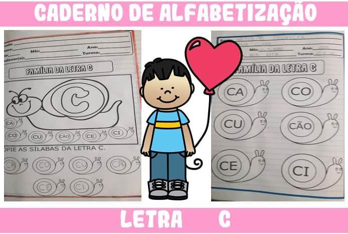 Caderno de Atividades para Alfabetização Letra C