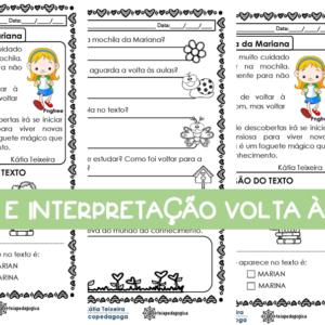 Texto com interpretação para trabalhar na volta às aulas