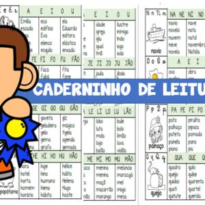 Fichas de leitura com sílabas simples