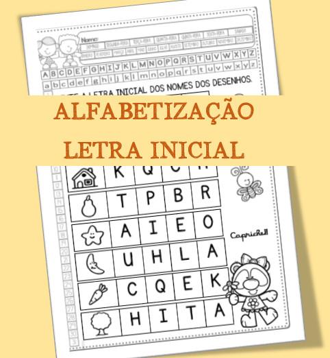 Atividade de Alfabetização letra inicial   BNCC (EF01LP07)