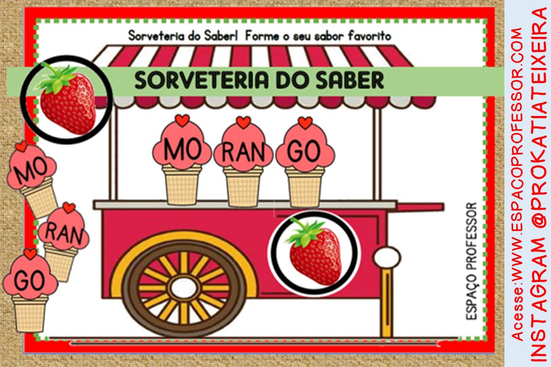 Jogo para alfabetização Sorveteria do Saber