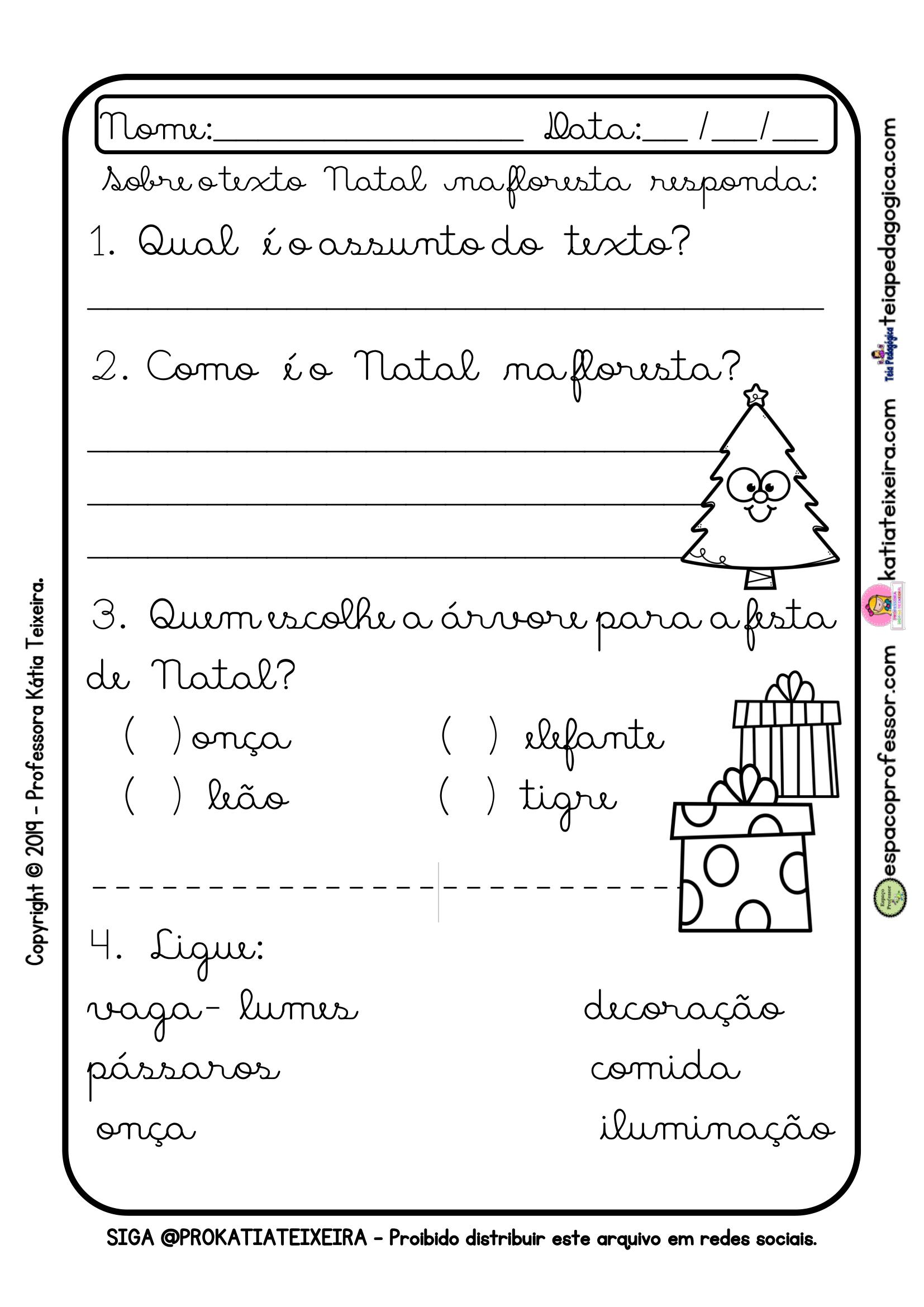 Sequencia Didatica Para Alfabetizacao Natal Espaco Professor