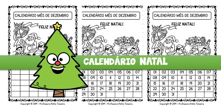 Calendário dezembro turma da Mônica