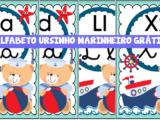 Alfabeto ursinho marinheiro grátis