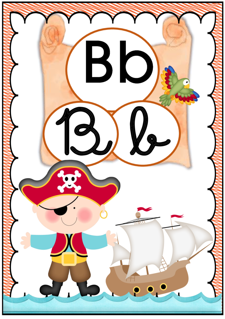 Alfabeto Pirata Para Imprimir Em Pdf Espaco Professor