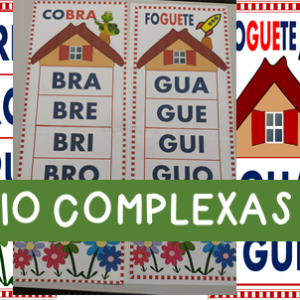 Silabário sílabas complexas em pdf para imprimir