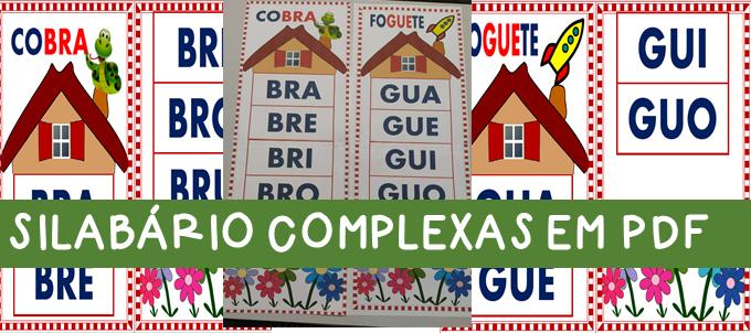 Silabário sílabas complexas em pdf. Silabário casinhas para imprimir