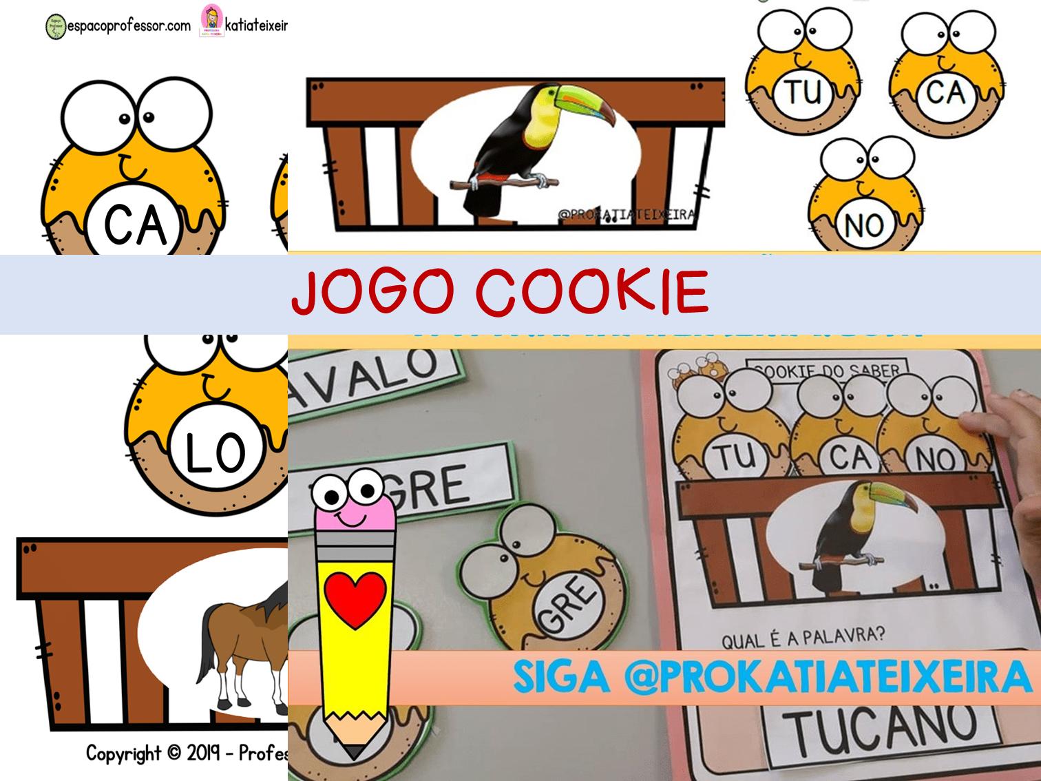 Jogo cookie formando palavras alfabetização – atividade de alfabetização