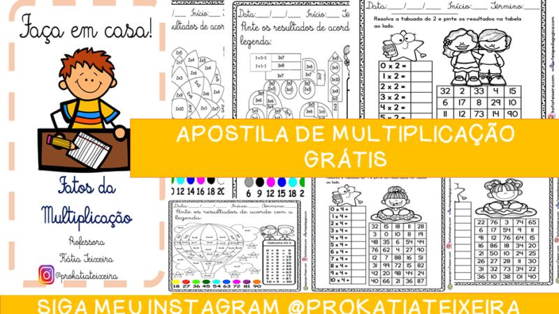 Apostila de multiplicação grátis