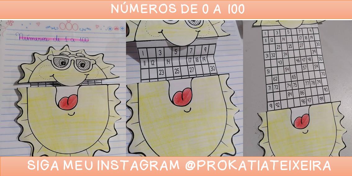 Números de 1 a 100 – atividades de alfabetização matemática