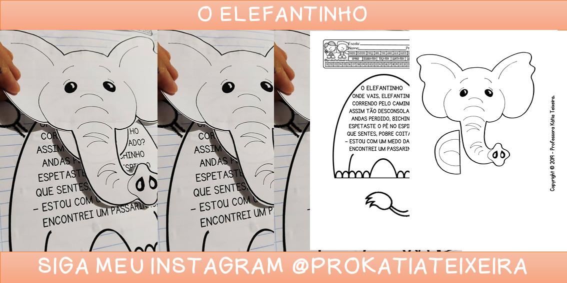 Poema interativo O elefantinho letra maiúscula