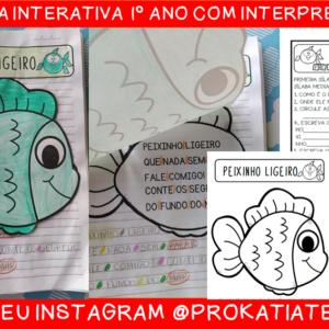 Leitura interativa 1º ano Peixinho ligeiro – atividade de alfabetização