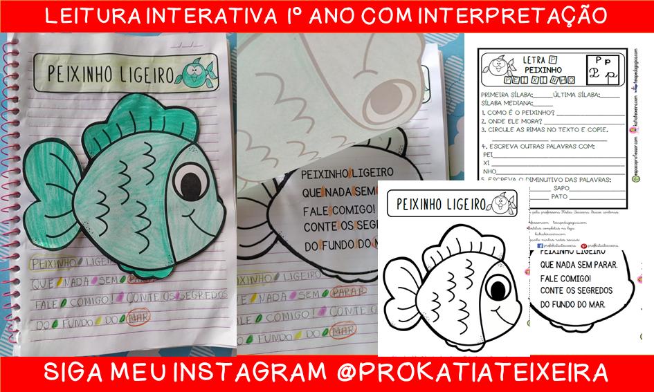 Leitura interativa 1º ano Peixinho ligeiro com interpretação