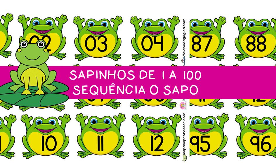 SAPINHOS DE 1 A 100  SEQUÊNCIA O SAPO