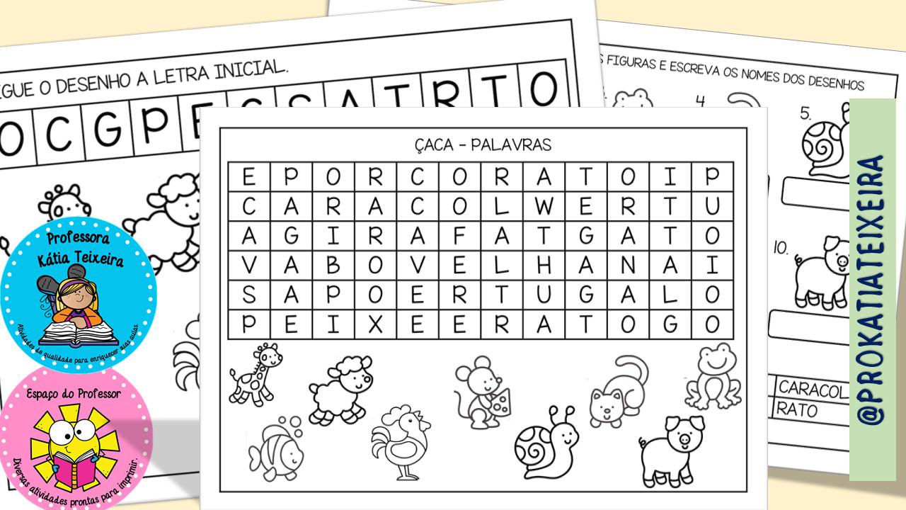 Atividades de Alfabetização grátis em PDF