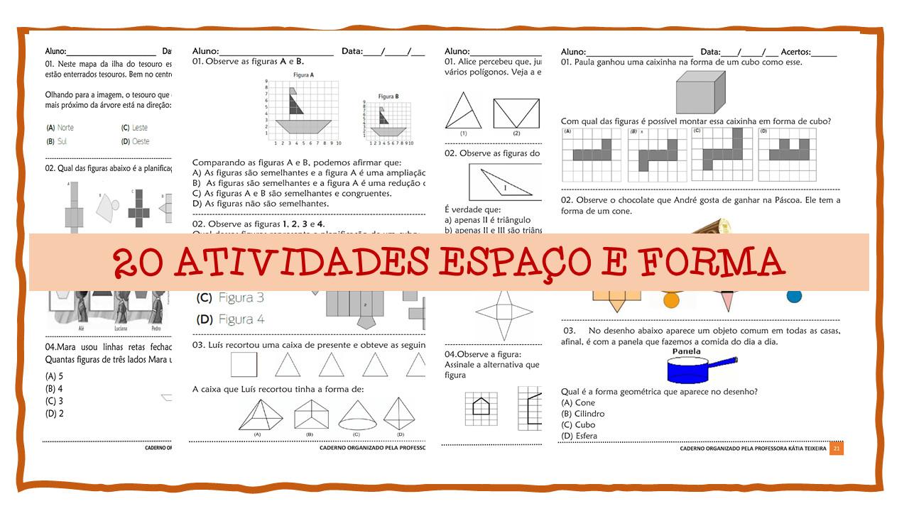 20 Atividades Espaço e Forma em pdf