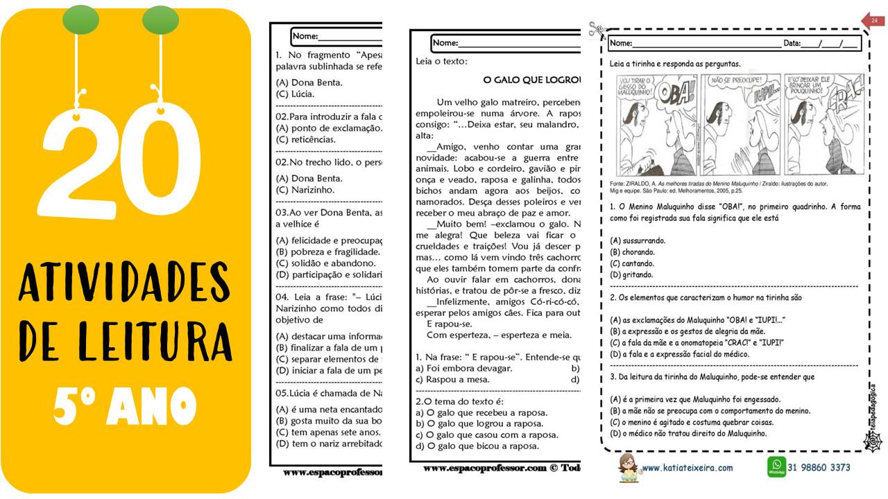 20 Atividades de leitura e interpretação para o 5º ano