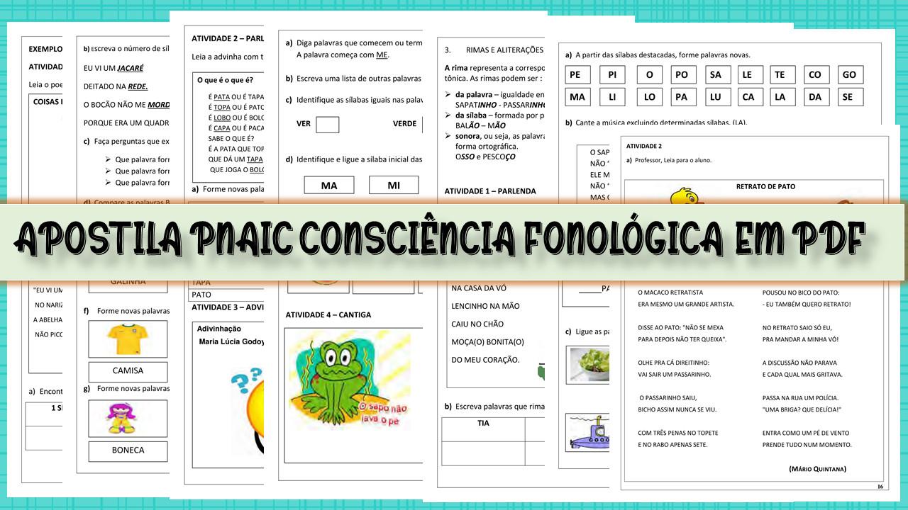 Apostila PNAIC Consciência Fonológica em pdf