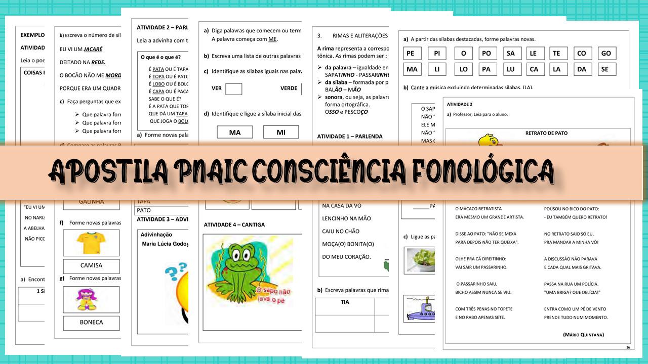 Apostila PNAIC Consciência Fonológica