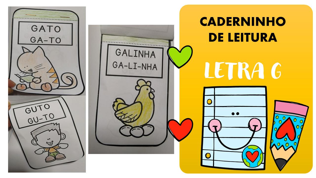 Caderninho de leitura letra G