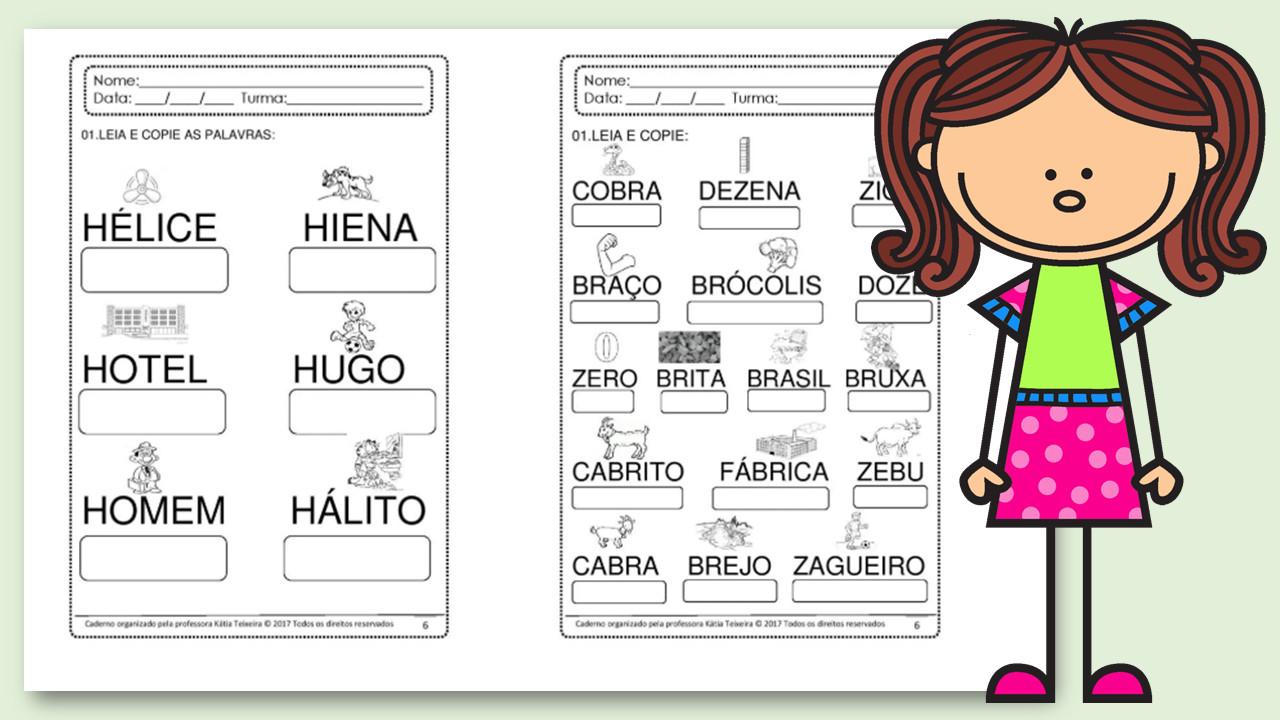 Alfabetização: 10 Atividades de escrita em PDF
