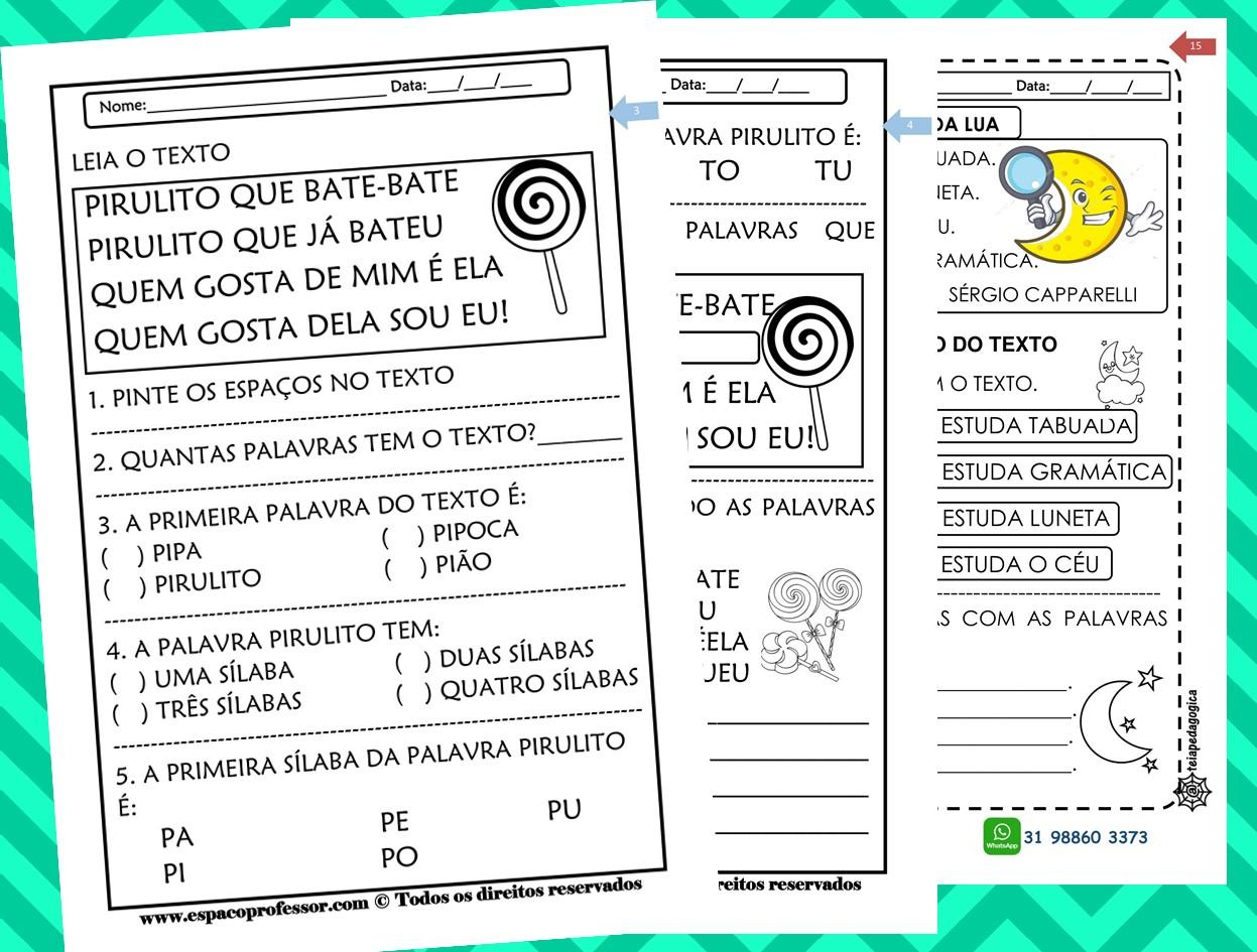 40 Atividades de português 2º ano em PDF