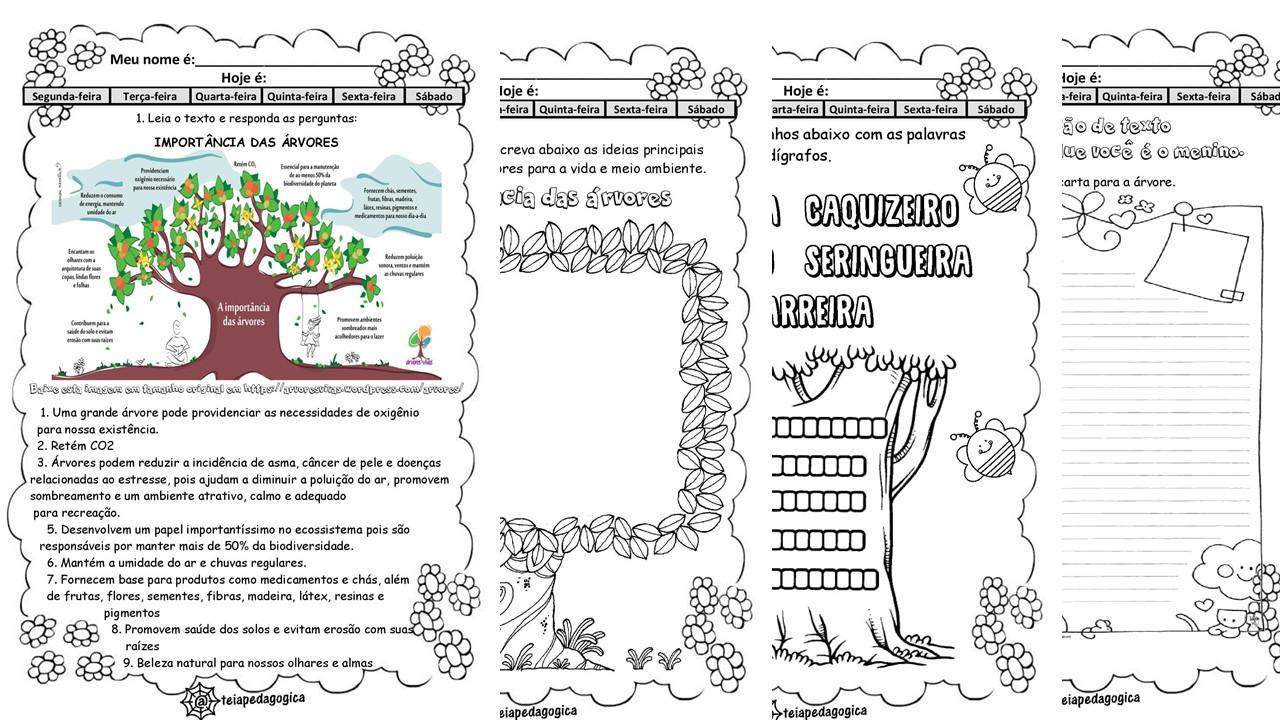 Sequência de atividades  árvores  em pdf