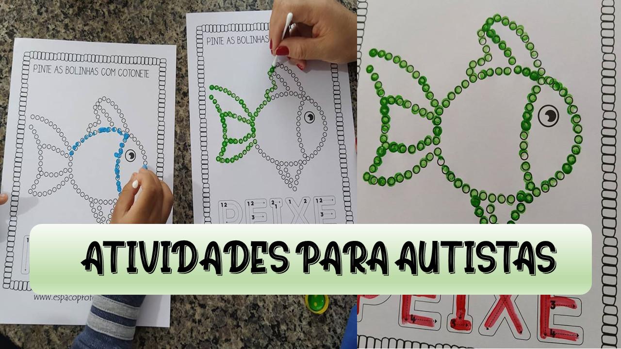 Atividade para autistas traçado da letra maiúscula
