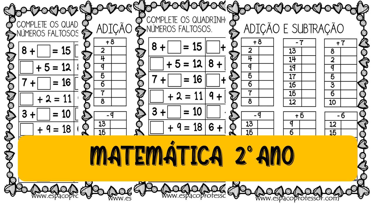 Atividades de matemática 2º ano adição e subtração