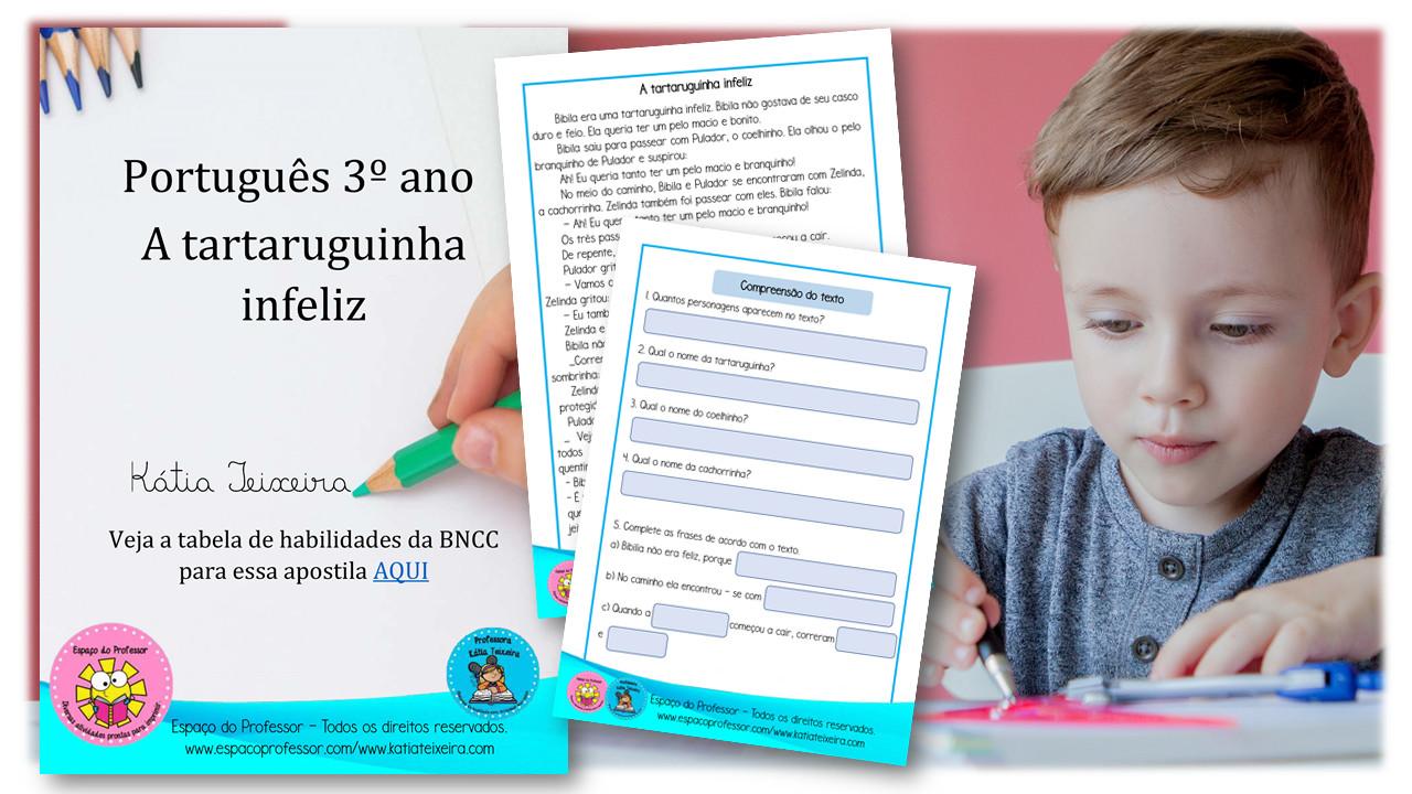 08 Atividades de português 3º ano em pdf para baixar