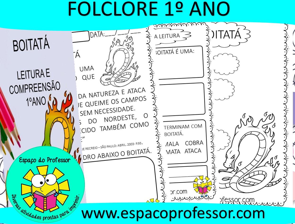 Interpretação de texto 1º ano PDF – Atividade folclore