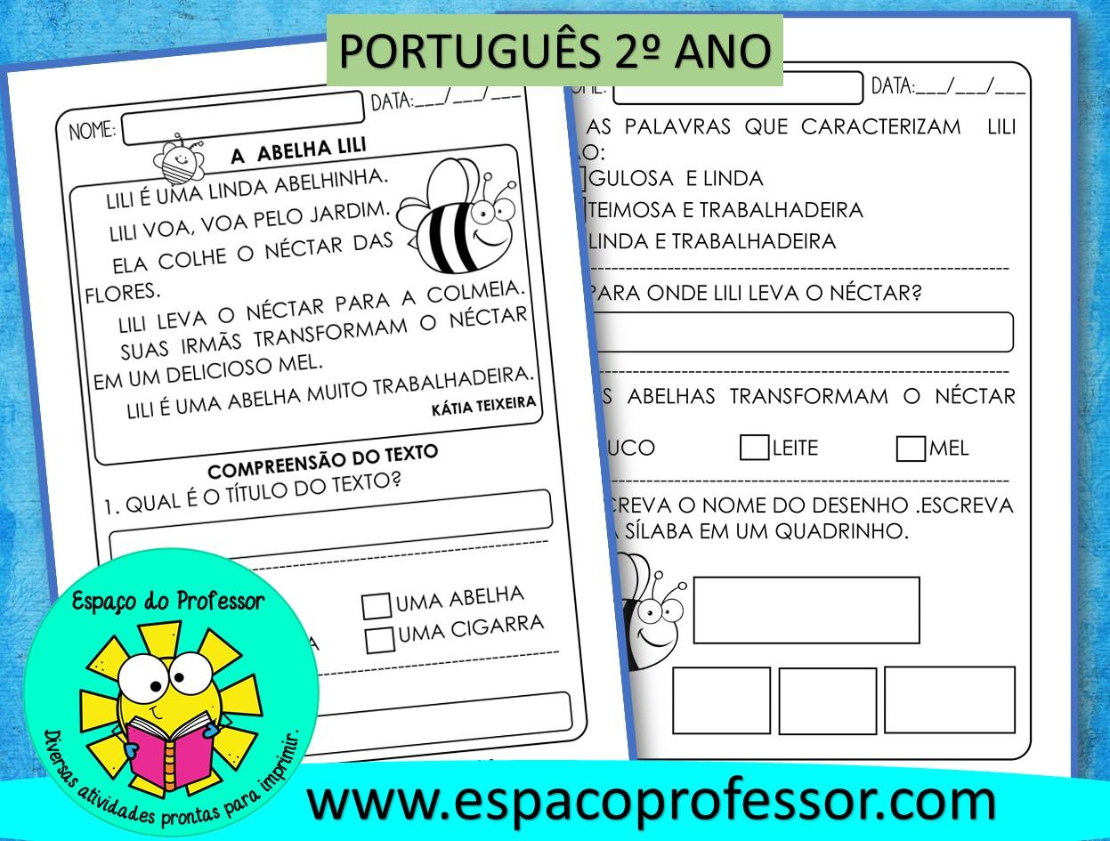 Atividade de português 2º ano – BNCC (EF15LP03),(EF02LP04)