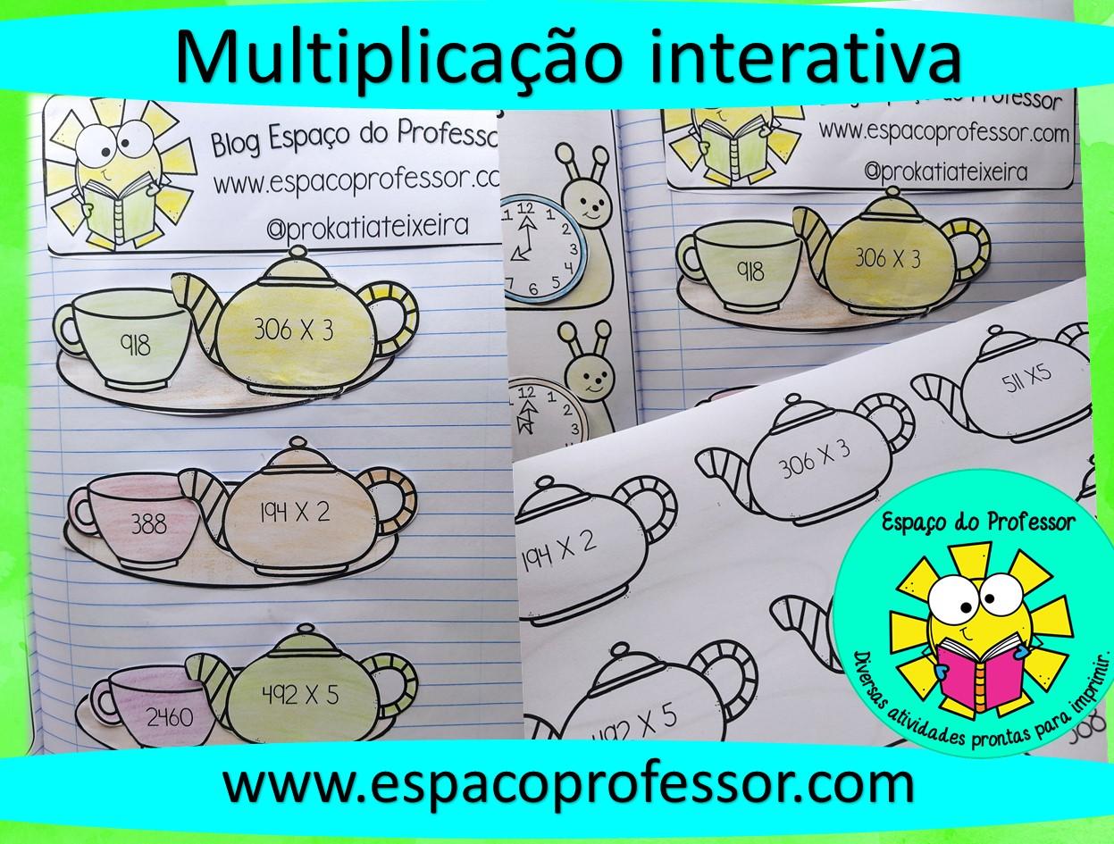 Atividade interativa de multiplicação – 3º ou 4º ano