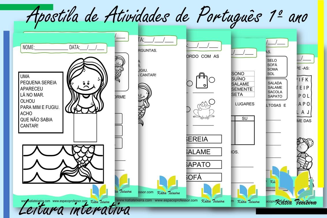 Atividades de português 1º ano com leitura interativa: Atividade de alfabetização