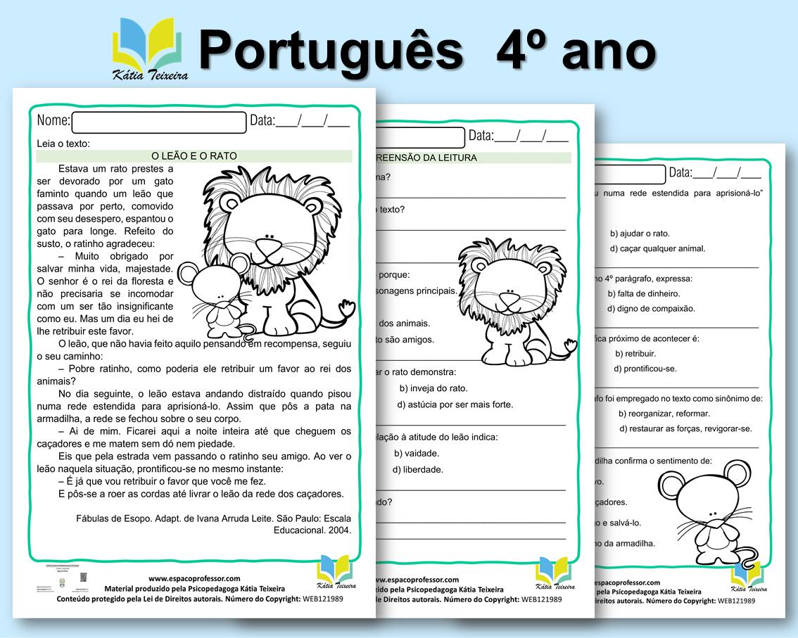 Atividade de português 5º ano 2 – interpretação 5º ano
