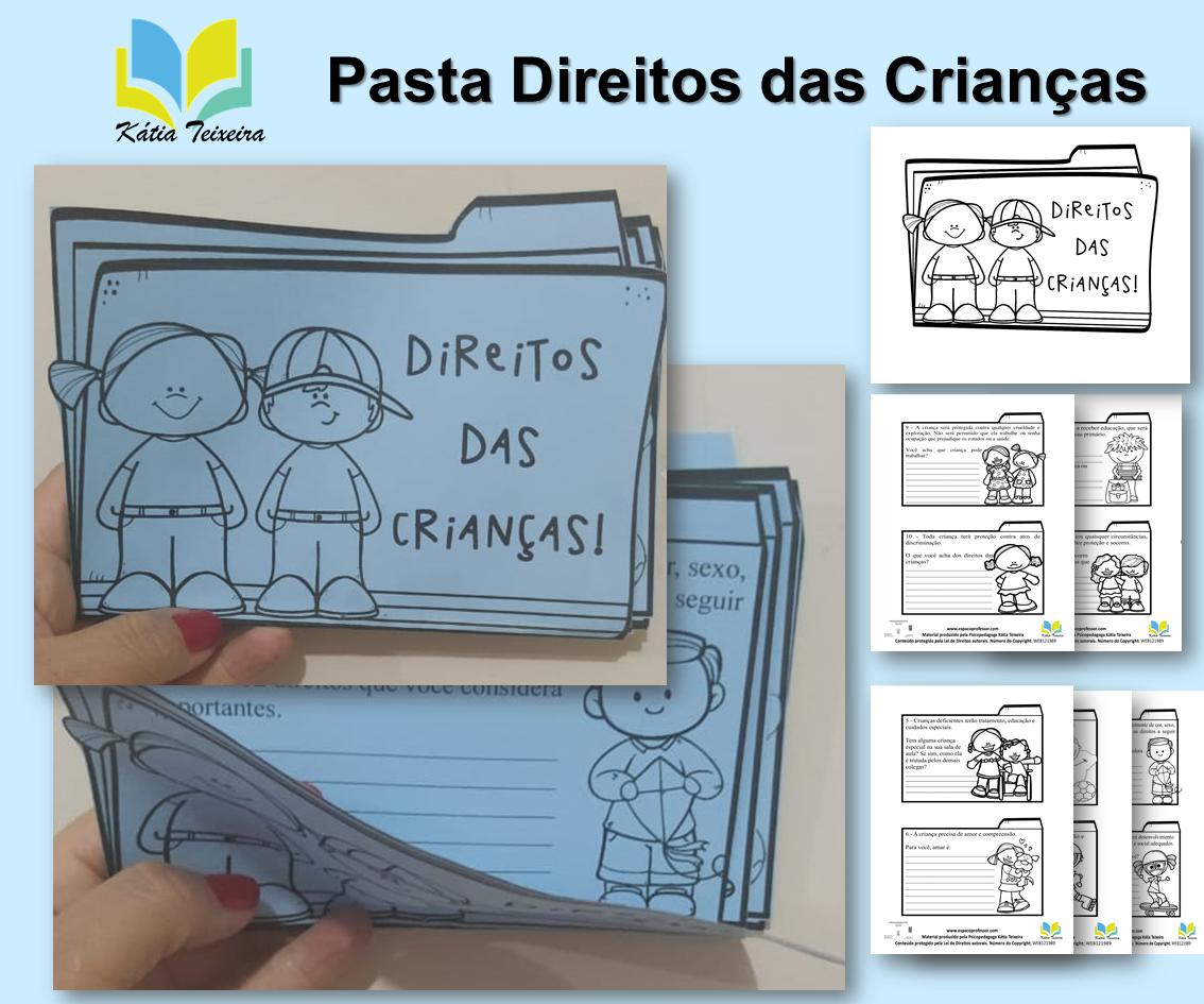 Pasta interativa Direitos das Crianças