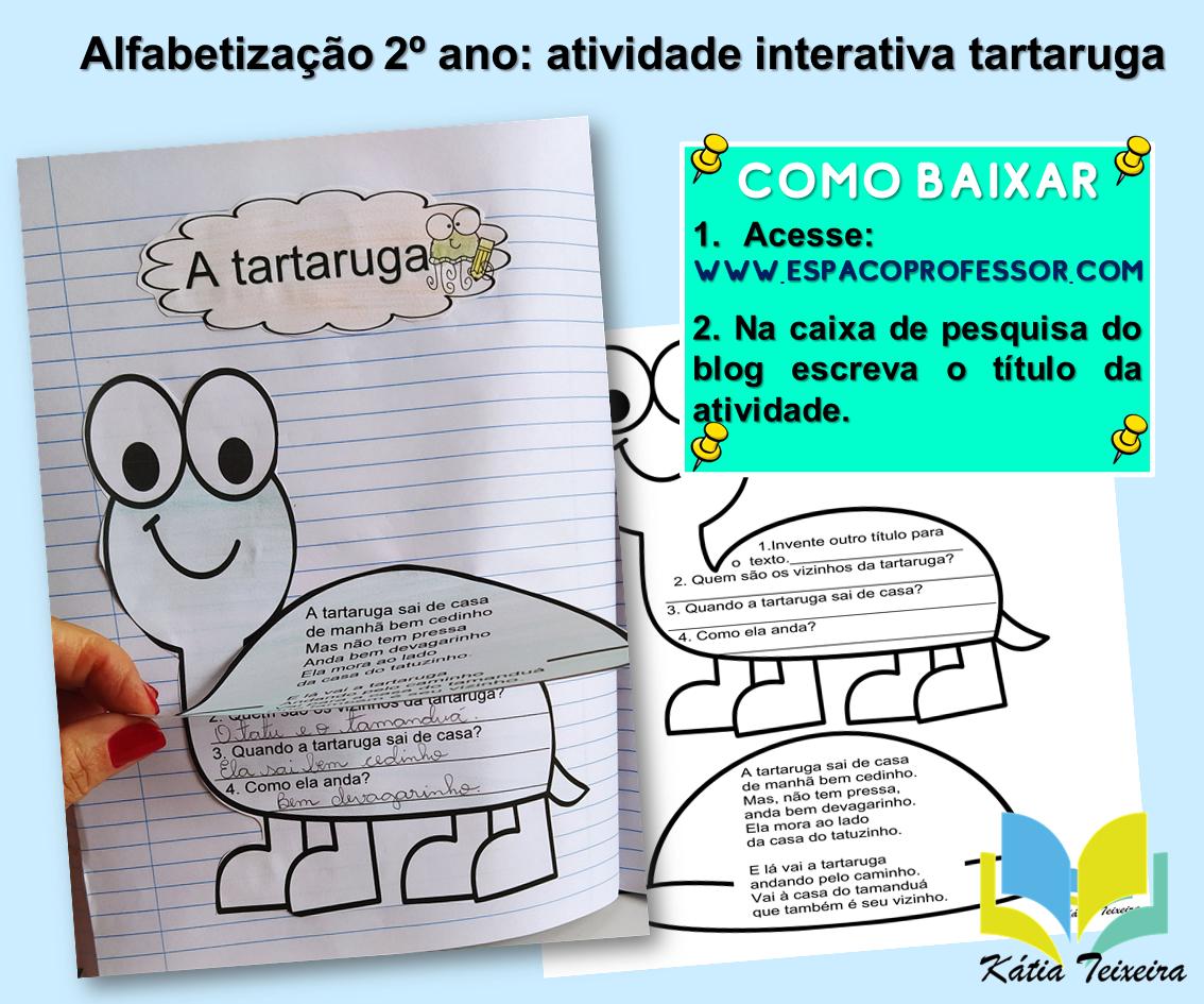 Alfabetização 2º ano: atividade interativa tartaruga