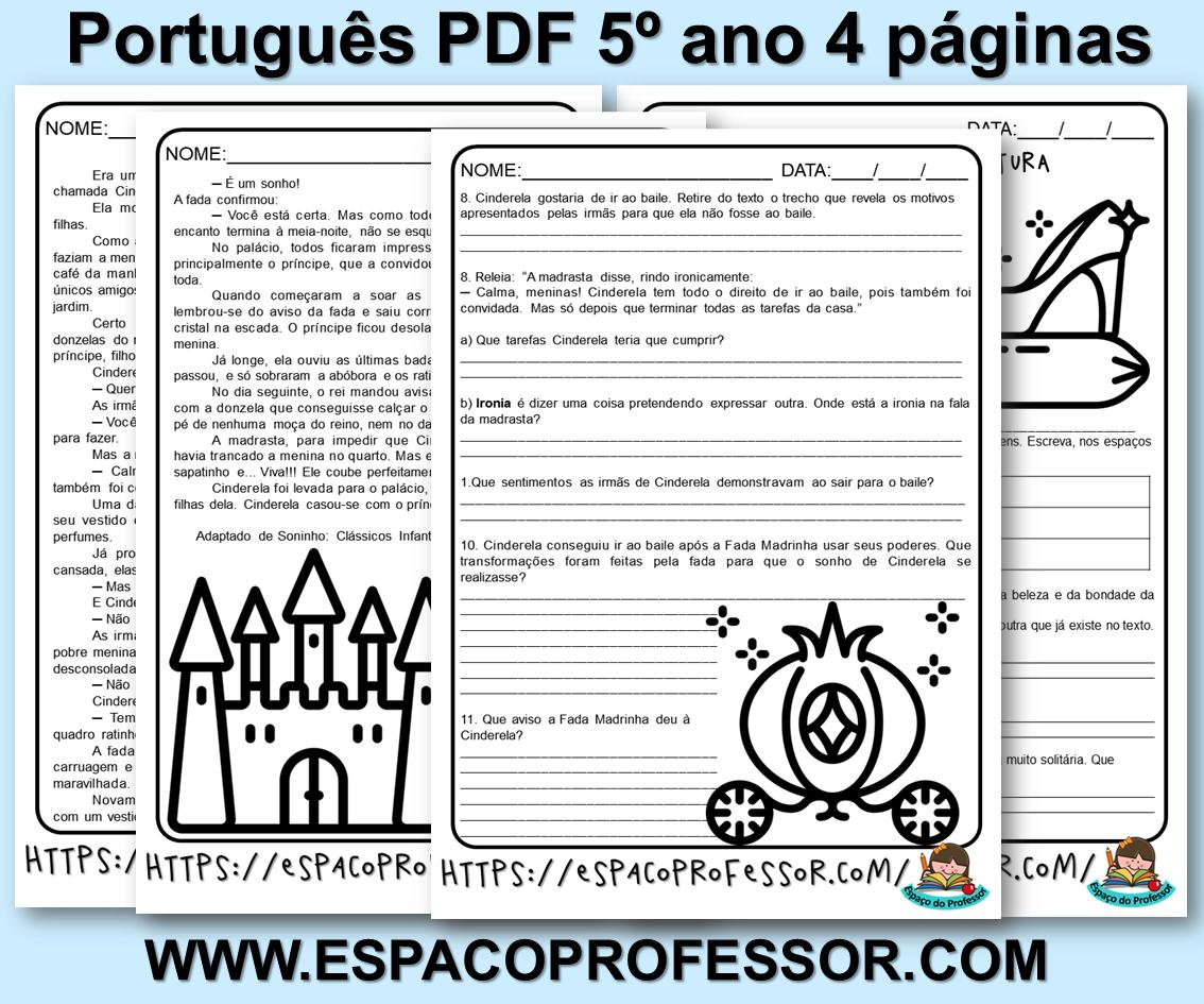 Atividades de português 5º ano em PDF para baixar