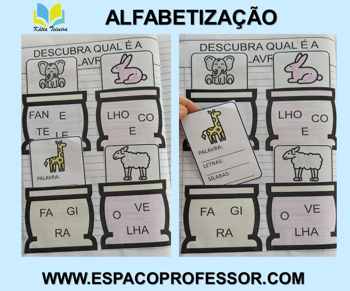 Atividades ordenar sílabas e formar palavras – atividades de alfabetização