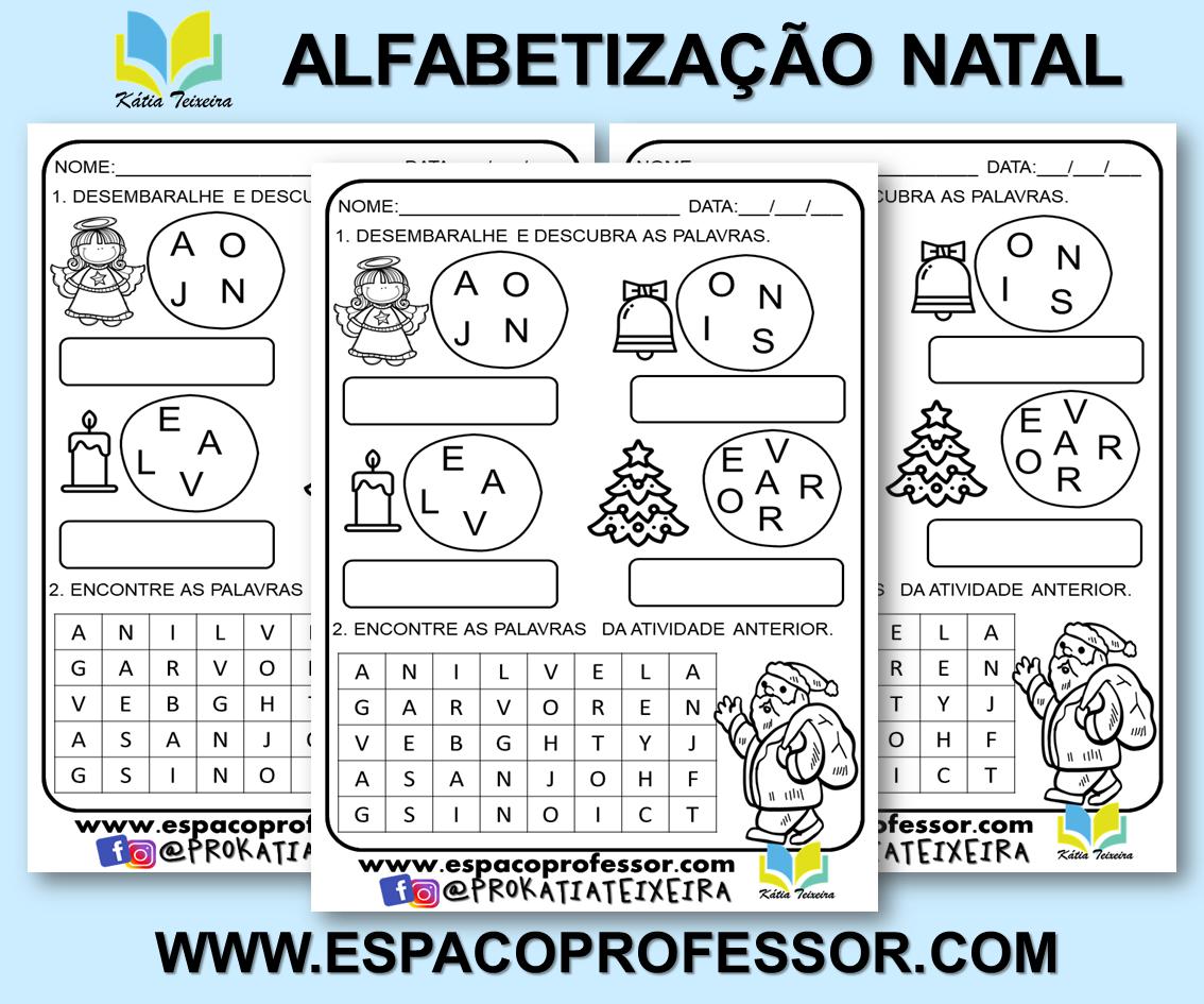 Atividade de Natal para Alfabetização – Símbolos Natalinos
