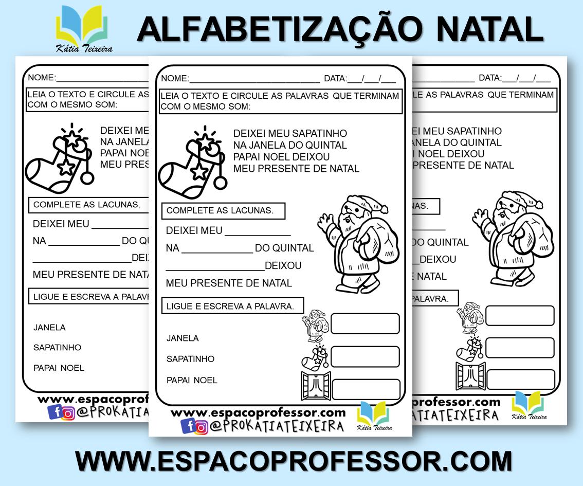 Atividades de natal para imprimir  – atividade de alfabetização