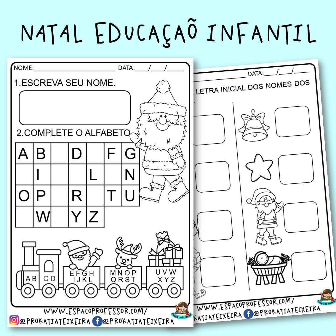 Atividades de alfabetização educação infantil Natal PDF