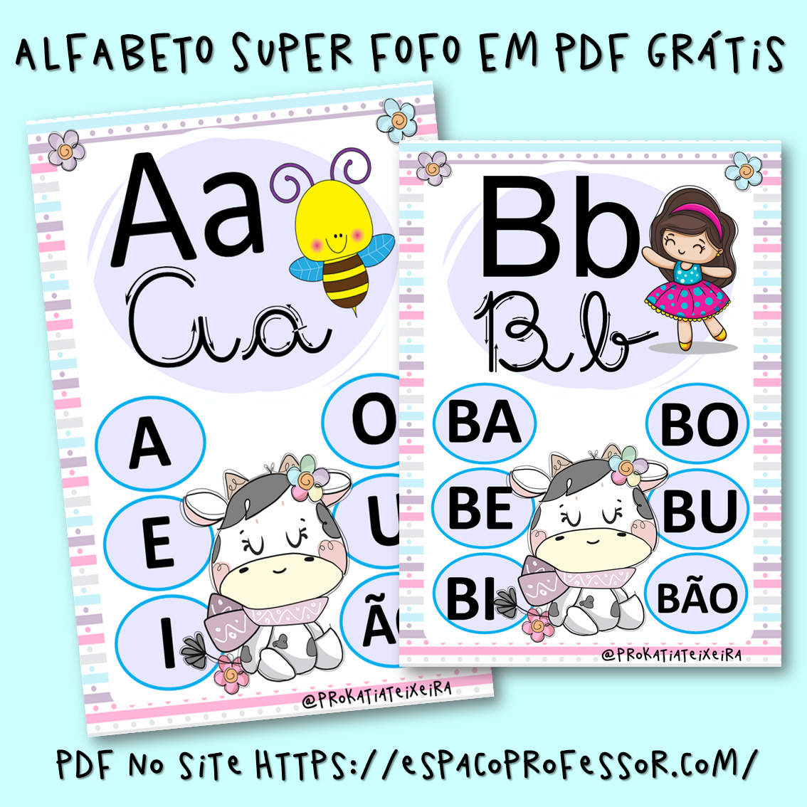 Alfabeto para Imprimir em PDF super fofo grátis