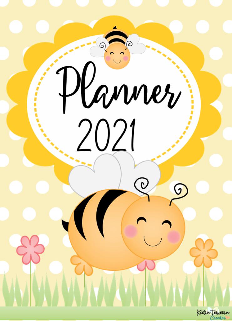 Planner Abelhinhas-1 para professor 2021 em PDF grátis