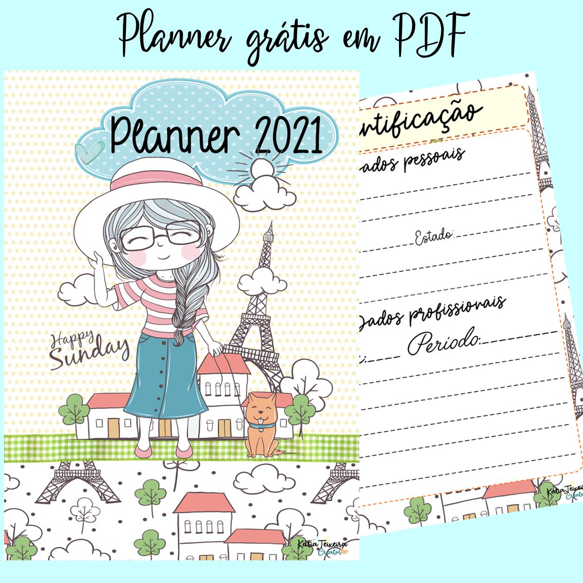Lindo Planner para baixar em PDF grátis Paris