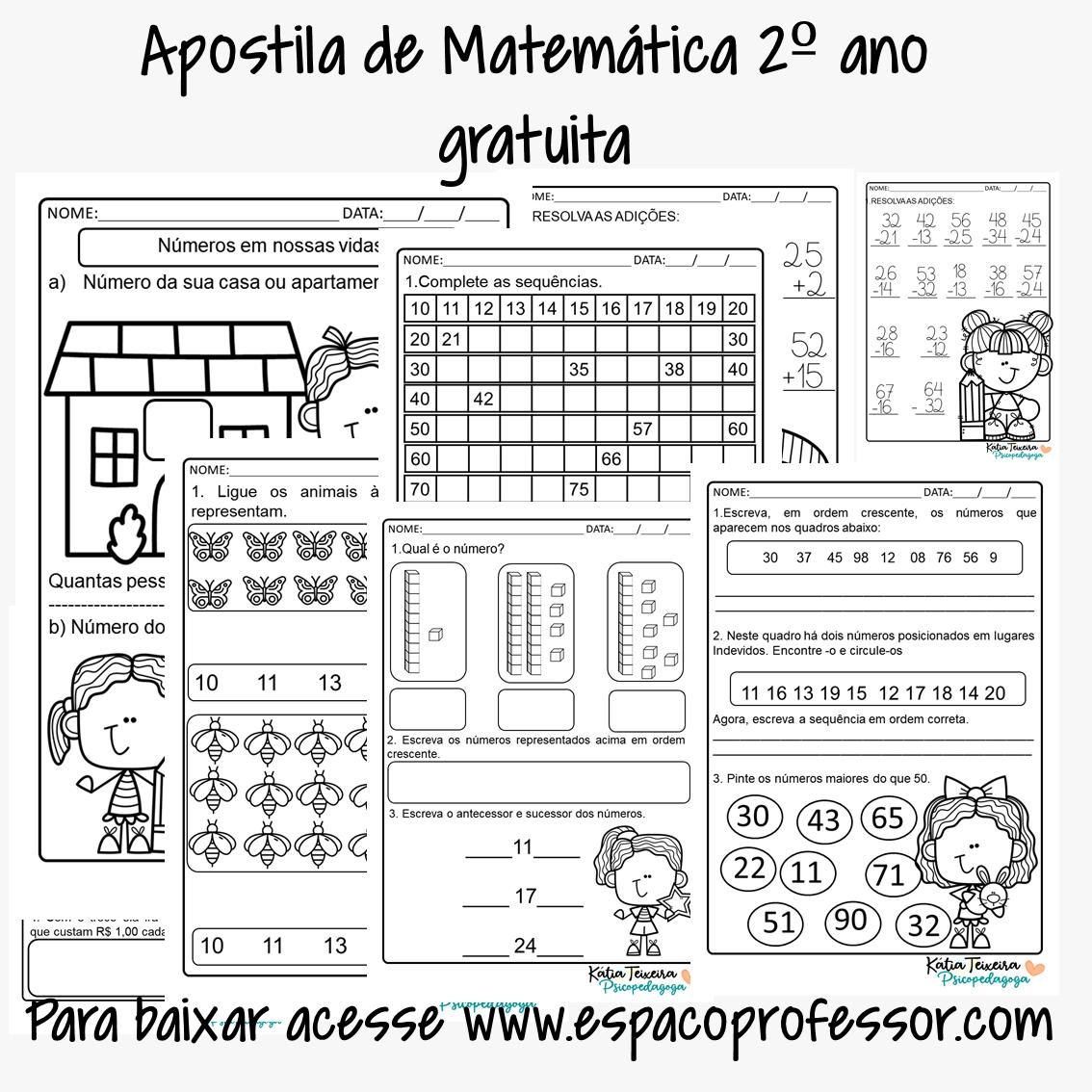 Apostila de matemática 2º ano – Bloco de atividades para baixar