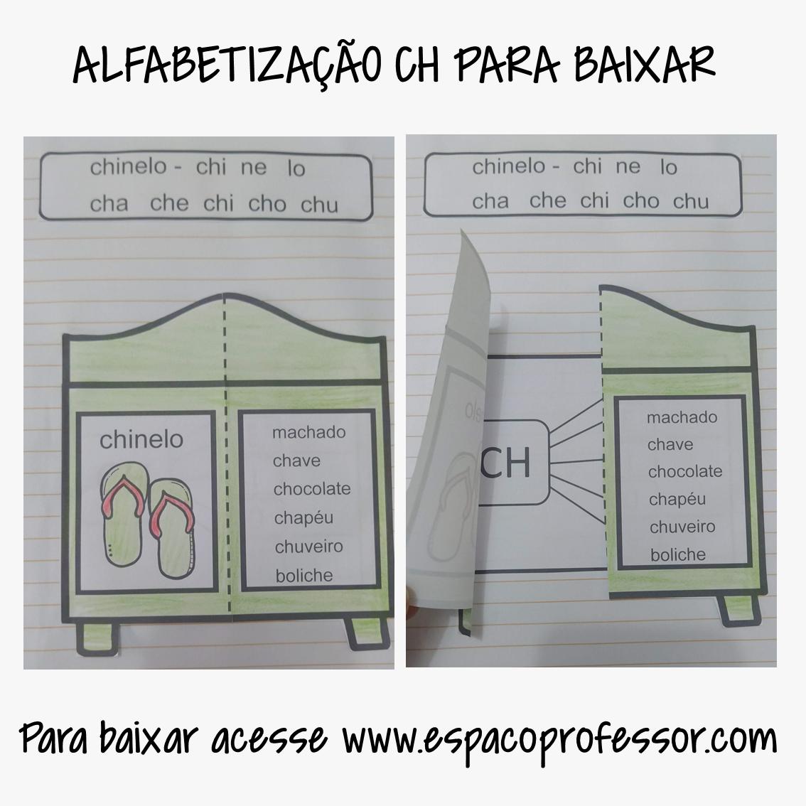 Atividades de alfabetização – sílabas complexas CH para baixar