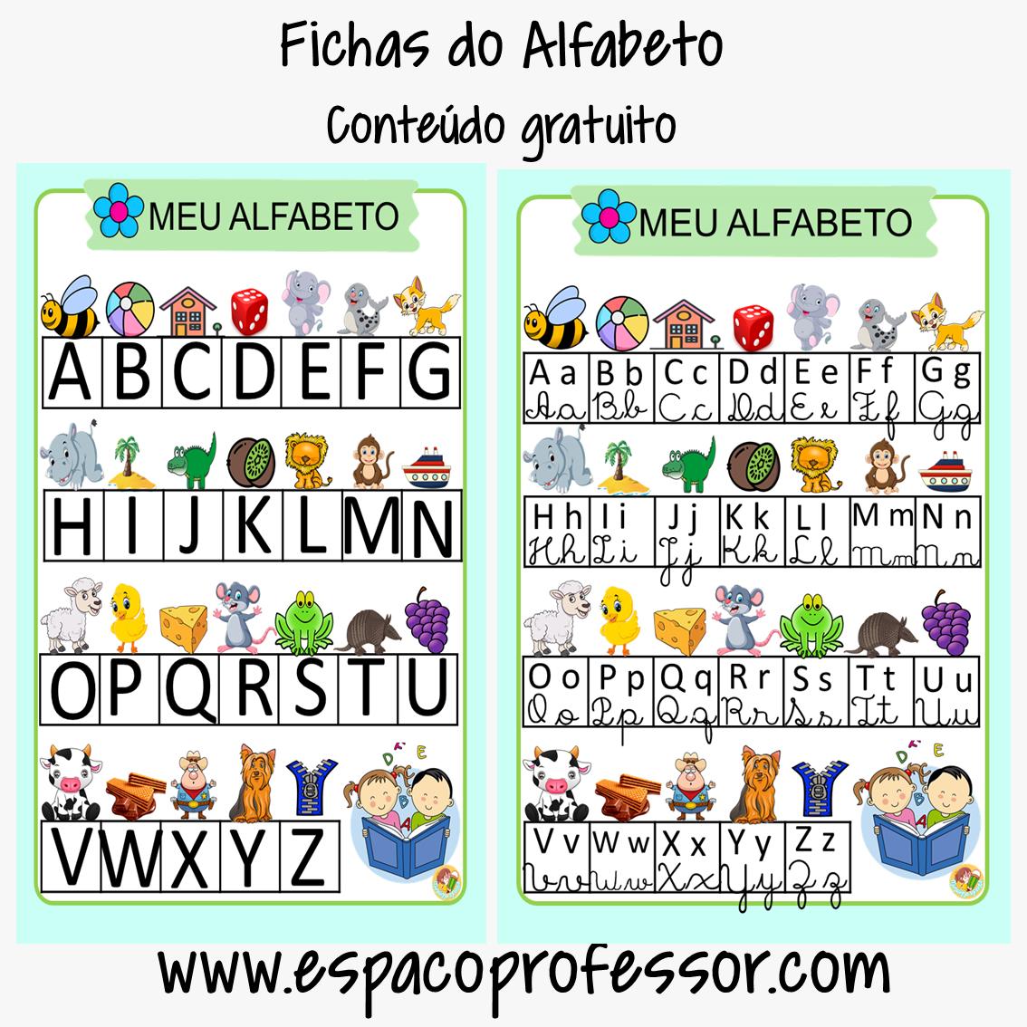 Alfabetização: Ficha do alfabeto para imprimir