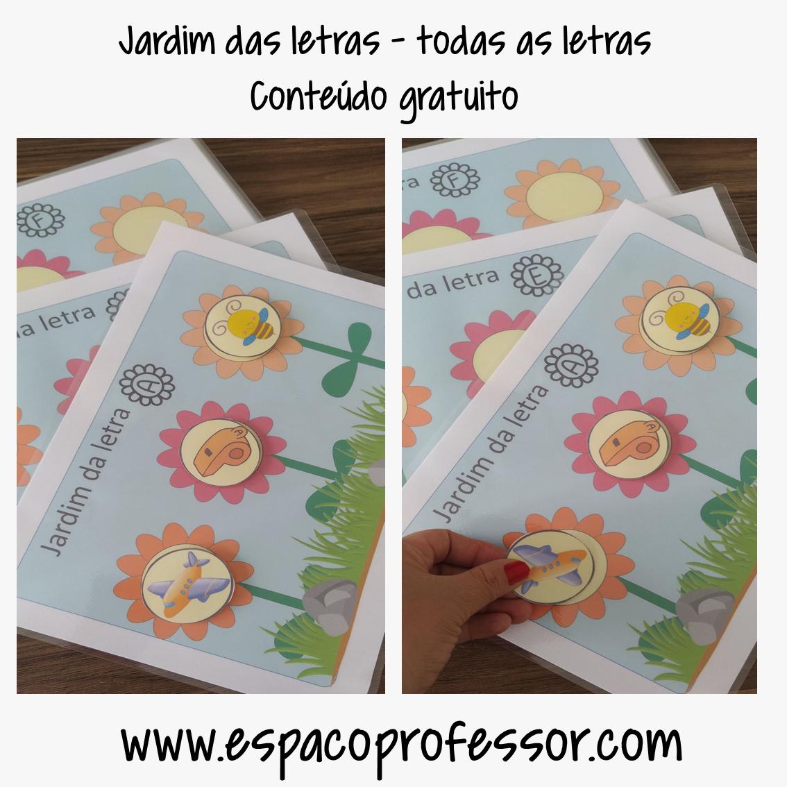 Jogo de Alfabetização Jardim das letras em PDF para baixar