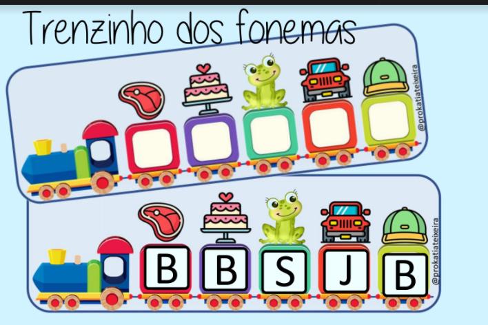 Jogo para alfabetização Trenzinho dos fonemas